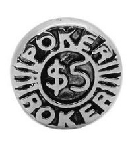 $5 Poker Chip Floating Charm