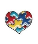 Autism Heart Floating Charm