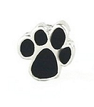 Black Paw Floating Charm