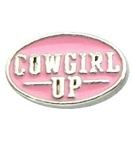 Cowgirl Up Floating Charm