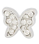 Crystal Butterfly Floating Charm