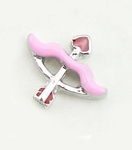 Cupid Arrow Floating Charm
