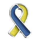 Down Syndrome Blue and Yellow Awareness Ribbon
