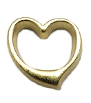 Gold Heart Floating Charm