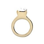 Gold Wedding Ring Floating Charm