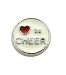 Heart to Cheer Floating Charm