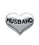 Husband Silver Heart Floating Charm