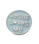 Jesus Loves Me Floating Charm