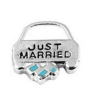 Just Married Floating Charm