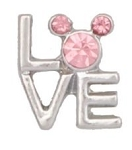 Love Mickey Floating Charm
