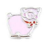 Pink Pig Floating Charm