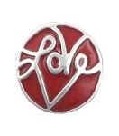 Red Round Love Floating Charm