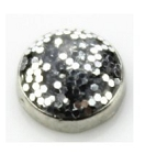 Silver Glitter Floating Charm