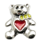 Teddy Bear with Heart Floating Charm