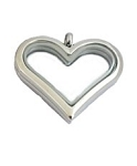 Alloy Medium Classic Heart Locket with Free Chain