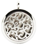 Filigree Essential Oil Diffuser Locket with 26