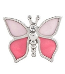 Pink Modern Butterfly Floating Charm