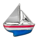 Red White and Blue Sail Boat Floating Charm