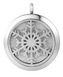 Snow Flake Essential Oil Diffuser Locket with 26