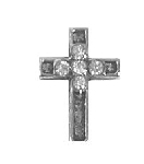 TJ Cross with Crystals Floating Charm