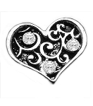 TJ Filigree Heart Floating Charm