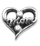 TJ Mom Silver Heart Floating Charm