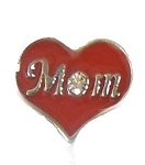 TJ Mom Red Heart Floating Charm
