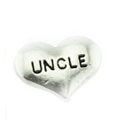 Uncle Silver Heart Floating Charm