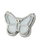 White Butterfly Floating Charm
