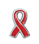 AIDS Awareness Red Ribbon Floating Charm