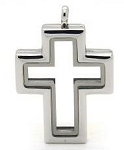 Alloy Cross Floating Locket