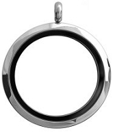 Alloy Classic Silver W/ Black Interior Ring 30mm Floating Locket