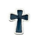 Black Roman Cross Floating Charm