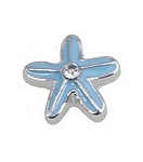 Blue Star Fish Floating Charm