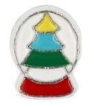 Christmas Tree Snow Globe Floating Charm