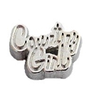 Country Girl Floating Charm