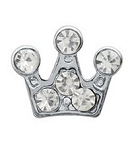 Crystal Crown Floating Charm