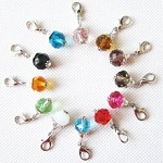 Crystal Birthstone Dangle Charm