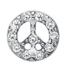 Crystal Peace Sign Floating Charm