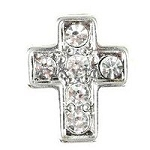 Crystal Cross Floating Charm
