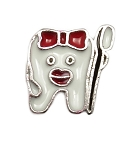 Dentist Tooth and Brush Floating Charm