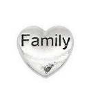 Family Silver Heart