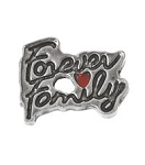 Forever Family Floating Charm
