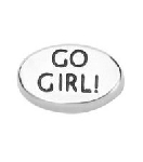 Go Girl Floating Charm