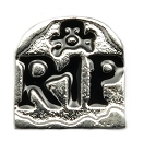 Tomb Stone Floating Charm