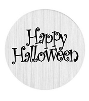 Happy Halloween 30mm Plate