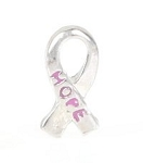 Hope Ribbon Floating Charm