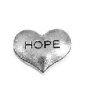 Hope Silver Heart