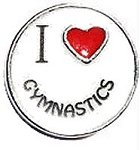 I Love Gymnastics Floating Charm