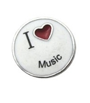 I Love Music Floating Charm